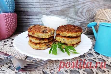Овощные оладьи с шампиньонами - рецепт - как приготовить - ингредиенты, состав, время приготовления - Леди Mail.Ru