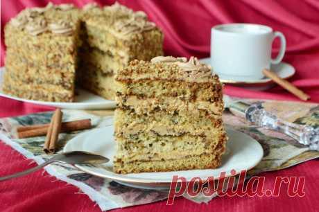 Торт «Мужской идеал» с ярким медовым вкусом и тонким коньячным послевкусием