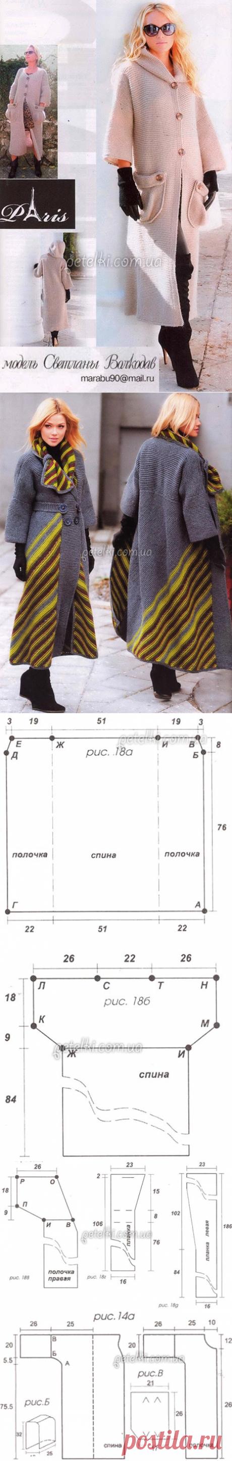 Вязаные пальто от Светланы Волкодав. 2 модели