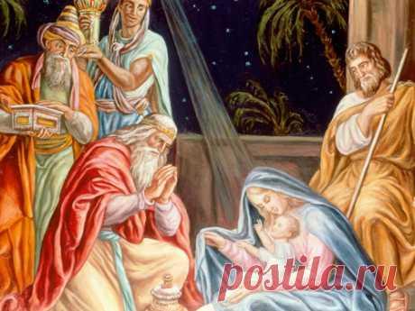Las oraciones afortunadamente y el bienestar en la Navidad el 7 de enero