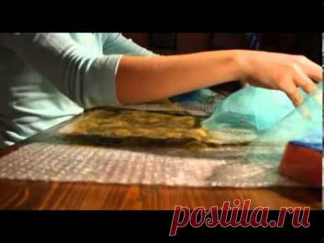 «Ручная работа» клатч в технике валяния (27.02.2014)