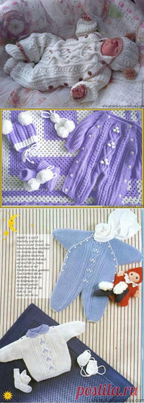 El mono tejido infantil por los rayos el esquema. La labor de punto por los rayos para los recién nacidos | el Estuche de la costura
