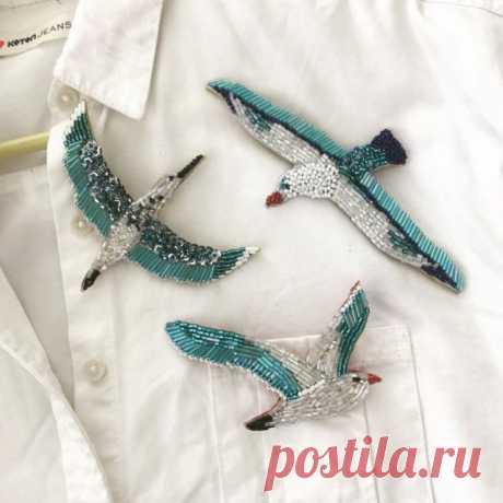 Gallery.ru / Фото #16 - текстильные и бисерные броши -6 - Vladikana