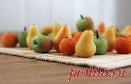 Как приготовить фрукты из марципана рецепт с фото