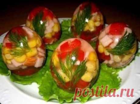 Заливные яйца (рецепт с фото) #салат #заливныеяйца #рецептсфото #кулинария