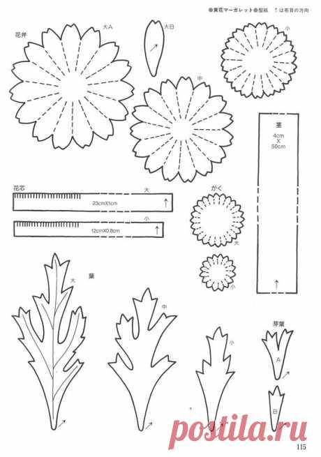 (1097) Pinterest - Пин: Татьяна на досках шаблоны цветов