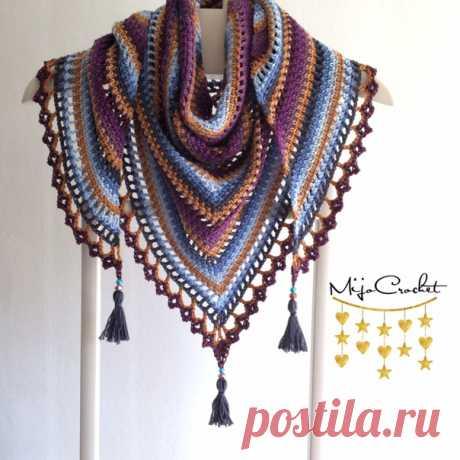 "Шaль ""Тaйгa"" от Mijo Crochet  #шаль@knit_hook, #шаль_крючком@knit_hook  Источник: https://www.liveinternet.ru/users/bsa2611/post4231908.."