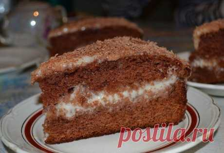 Как приготовить шоколадно-сметанный торт - рецепт, ингредиенты и фотографии