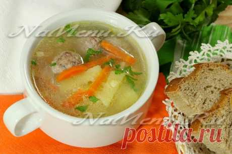 Суп с фрикадельками и рисом, пошаговый рецепт с фото