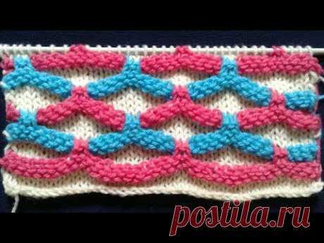 08854a18c Locked honeycomb knitting design in hindi (English subtitles)  new sweater  design 2018