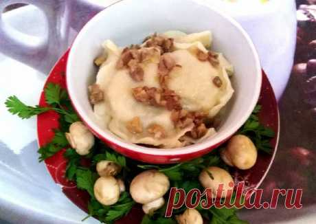 Вареники с картофелем и грибами - пошаговый рецепт с фото. Автор рецепта Marina Karimova🌳 . - Cookpad