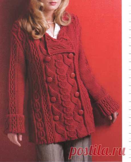 Мастера и умники: Красивый жакет объёмной вязкой и Зелёный пуловер с аранами