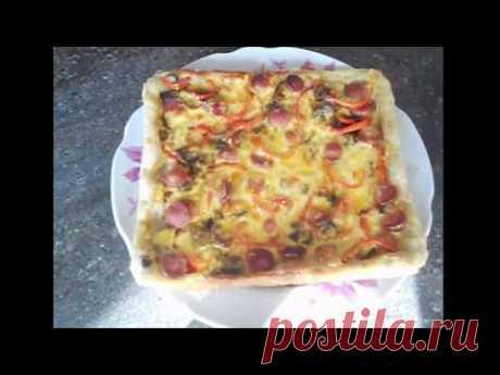 Очень вкусная пицца 🍕 из черствого хлеба. Блюдо из черствого хлеба.
