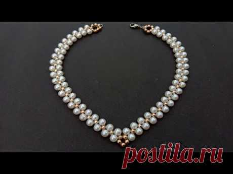 How To Make//Pearl Necklace//At Home// useful & easy
