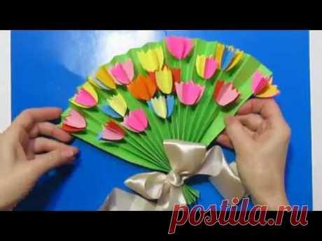 Мастер-Класс: сделать цветы маленькие из бумаги поделки.Подарок маме на день рождения своими руками.