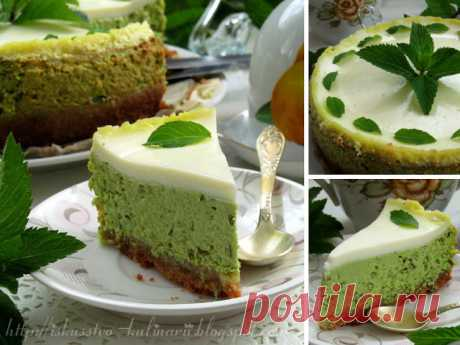 Comprehending art of cookery...: Cottage cheese and mint cheesecake.