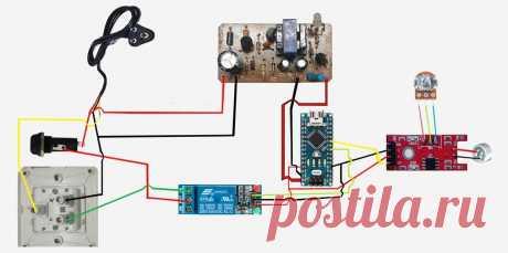 Собираем хлопковый выключатель В этой небольшой статье мастер-самодельщик поделится с нами схемой выключателя реагирующего на звук. И «сердцем» этой схемы является так полюбившаяся многим старым мастерам-электронщикам, плата Ардуино. Инструменты и материалы: