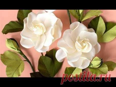 Como hacer flores de papel / Flor de papel crepom / Gardenia Flores