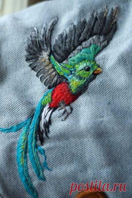 Ручная вышивка от художницы Юлии Шербак