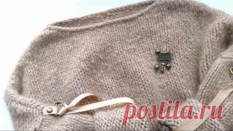 Вязание. Стильный джемпер. Попетельный  обзор. //Knitting