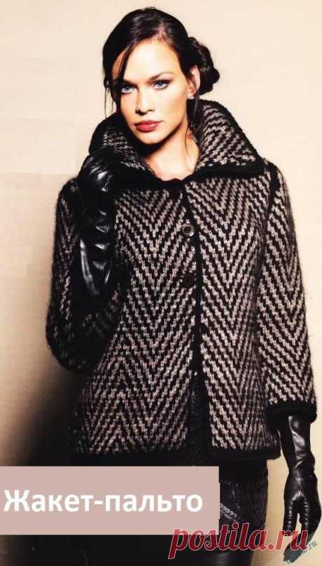 Вязаный жакет пальто спицами   Отлично! Школа моды, декора и актуального рукоделия