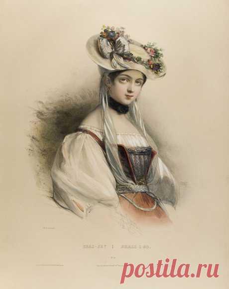 Светская дама...Французский живописец Henri Grvedon (1776-1860)