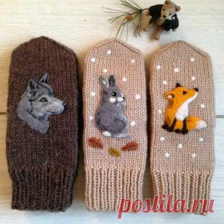 Не просто варежки, а настоящие произведения! Как при помощи шерсти превратить рукавички в сказочную красоту   Живые вещи   Яндекс Дзен