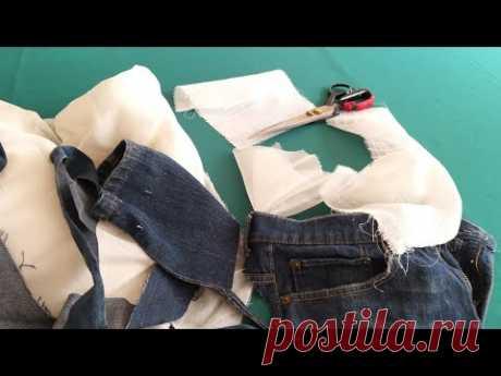 Эту идею кардигана  увидела во сне. Из обрезков тюля и джинсы, получилось эффектное летнее пальто.