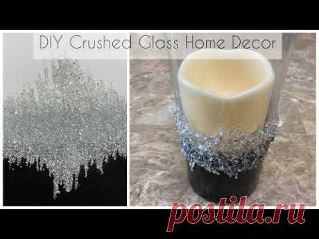Crushed glass DIYs | Bling Abstract Art | Z Gallerie inspired