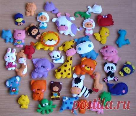 Шьем забавные игрушки из фетра: выкройки ...