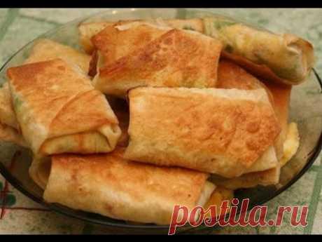 La colación rápida de lavasha con el queso