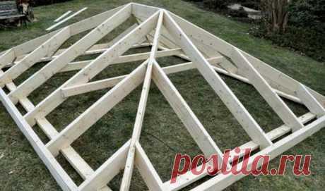 El techo para el cenador por las manos: la instrucción de la construcción
