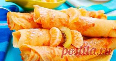 Самые полезные в мире блины: блины с апельсиновым соком, без муки.