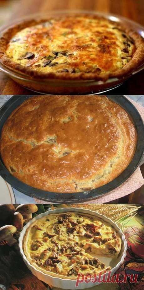 Пироги с грибами: 7 вкусных рецептов / Простые рецепты