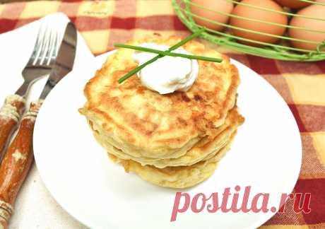 Быстрые сырные лепешки к завтраку.