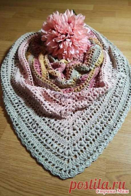 Как связать невероятно красивую шаль крючком - Вязание - Страна Мам