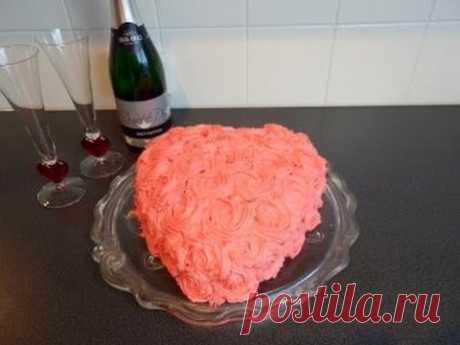 """cake \""""Red velvet\"""" on den Sv. Valentina\/Valentinstag Torte\/Red Velvet"""