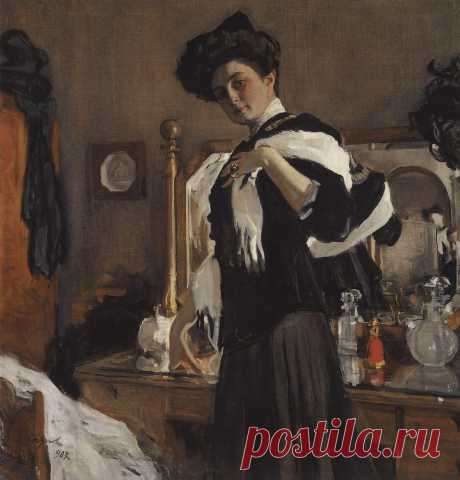 Портрет Г.Л.Гиршман. 1907     Валентин Александрович Серов (1865-1911). Часть 1: vakin