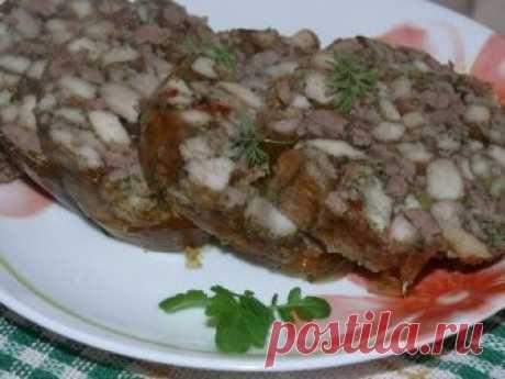 Куриная колбаса с печенью - вкусно и необычно! Прекрасное угощение к праздничному столу!