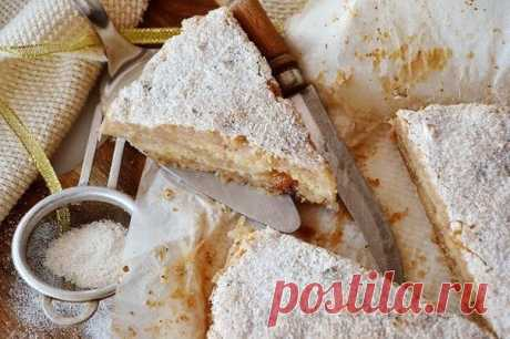 Насыпной яблочный пирог — Sloosh – кулинарные рецепты