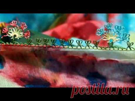 Турецкое игольное кружево ойяси. Урок № 31: цветочная обвязка