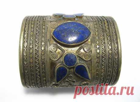 Lapis Lazuli Turkmen,Turkoman,Turkish Cuff Bracelet,Vintage Tribal Ethnic Jewelry,Metal Carving,Antique,German Silver,Handmade   Flickr - Photo Sharing!