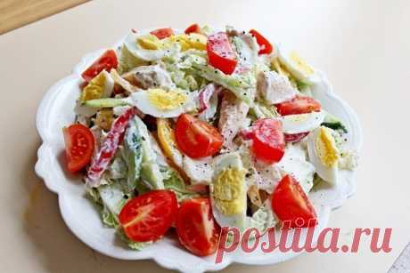 Идеальный ПП-ужин и простой рецепт на каждый день: салат «Свежесть»