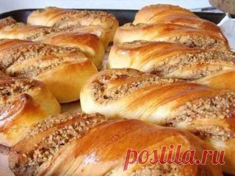 Рецепт домашних ореховых булочек