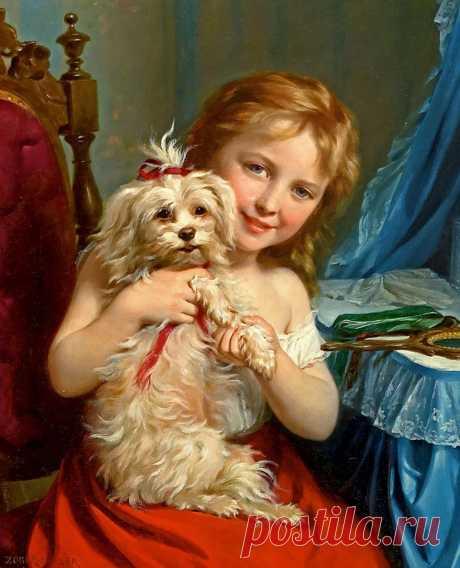 картина девочка с собакой: 11 тыс изображений найдено в Яндекс.Картинках