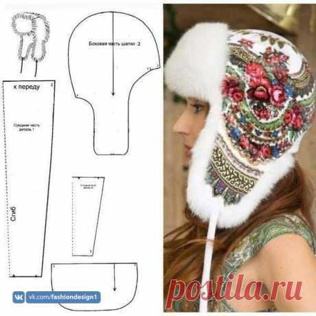 Моделирование женской шапки-ушанки — Сделай сам, идеи для творчества - DIY Ideas