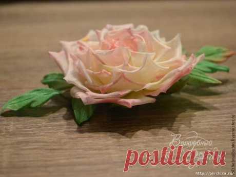 Роза из шелка-Мастер-класс для начинающих