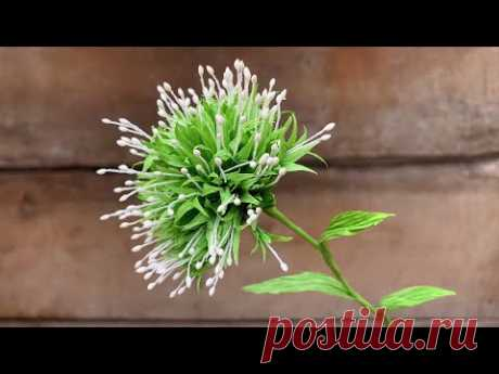 ABC TV How To Make Filler Paper Flower #27 From Crepe Paper (Slowly) - Craft Tutorial