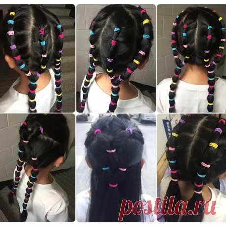 100 шт./компл. нейлоновые эластичные резинки для волос карамельных цветов для девочек, детская резинка, повязка на голову, резинки, модные аксессуары для волос | Аксессуары для волос для девочек