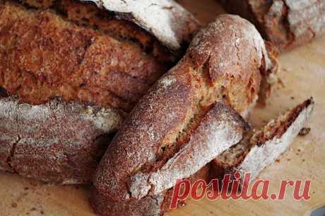 Гречневый хлеб с луком на закваске